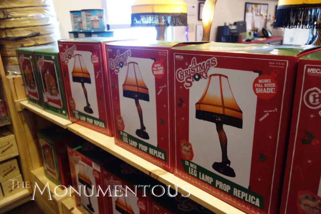 the gift shop for the a christmas story house absolutely allows visitors to purchase these leg lamps but also presents the opportunity for visitors to buy